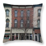 North Country Main Street Of Gouverneur, New York Throw Pillow