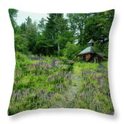 North Country Nod To Monet Throw Pillow
