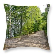 North Country Trail In Pictured Rocks National Lakeshore-michigan  Throw Pillow
