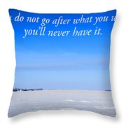 North Dakota Prairie Landscape With Inspirational Text Throw Pillow