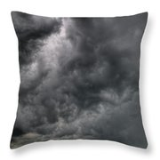 North Dakota Thunderstorm Throw Pillow