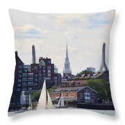 North End  Of Boston  Throw Pillow