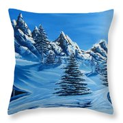 North Face Throw Pillow