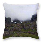 North Face Throw Pillow