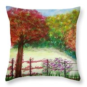 North Fence Throw Pillow