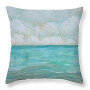North Florida Sand Pipers Throw Pillow