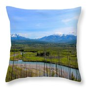 North Fork Flathead River Throw Pillow