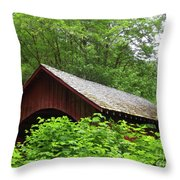 North Fork Yachats Bridge 1 Throw Pillow