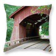 North Fork Yachats Bridge 2 Throw Pillow