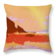 North Friars Bay Diffused Throw Pillow