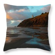 North Head Light Reflections Throw Pillow
