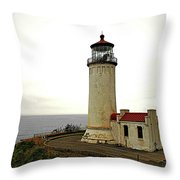 North Head Lighthouse - Graveyard Of The Pacific - Ilwaco Wa Throw Pillow