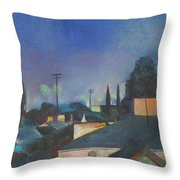 North Hollywood Sky Line Throw Pillow