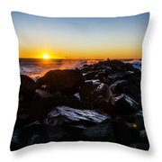 North Jetty Throw Pillow