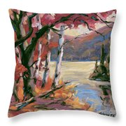 North Lake By Prankearts Throw Pillow