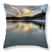 North Lake Tahoe Spring Sunset Throw Pillow