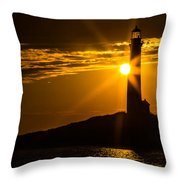 North Light Sunflare Throw Pillow