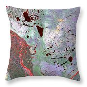 North Of Canada From Space Throw Pillow