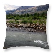 North Of Dubois Wy Throw Pillow