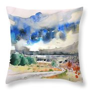 North Of France 01 - The Coast Throw Pillow