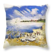 North Of France 02 - The Coast Throw Pillow