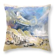 North Of France 03 - The Coast Throw Pillow