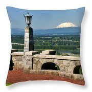 North Of Portland Throw Pillow