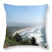 North Oregon Coast Photograph Throw Pillow