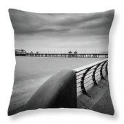 North Pier Blackpool Throw Pillow