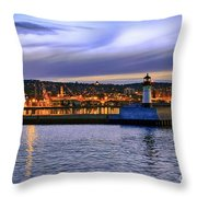 North Pier Evening Throw Pillow