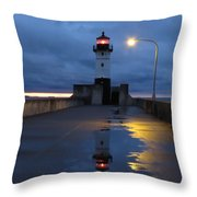 North Pier Reflections Throw Pillow