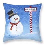 North Pole Throw Pillow