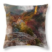 North Rim Of The Grand Canyon Throw Pillow