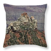 North Rim Rock Throw Pillow
