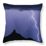 North Scottsdale Arizona Pinnacle Peak Monsoon Throw Pillow