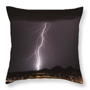 North Scottsdale Lightning Monsoon Throw Pillow