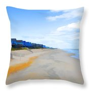North Sea Beach 3 Throw Pillow