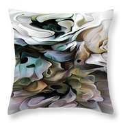 North Shore Abstract Wild Flowers Throw Pillow