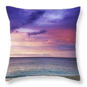 North Shore Beach Sunset Throw Pillow