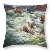 North Shore Drama Throw Pillow