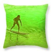 North Shore Green Throw Pillow