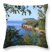 North Shore Lake Superior Throw Pillow