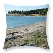 North Shore Of Penn Cove Throw Pillow