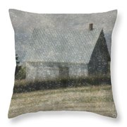 North Shore Snowstorm Throw Pillow