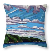 North Shore Stratocumulus Streets Throw Pillow