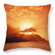 North Shore, Sunset Throw Pillow
