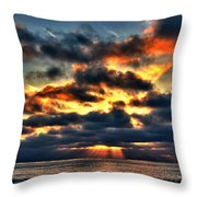 North Shore Sunset Throw Pillow