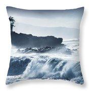 North Shore Waimea Bay Throw Pillow