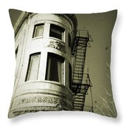 North Side Building Throw Pillow
