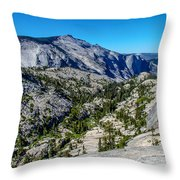 North Side Of Half Dome Valley Throw Pillow